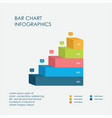 stairs chart bar chart infographics elements 3d vector image vector image