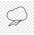 storm concept linear icon isolated on transparent vector image