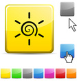 Sun glossy button vector image vector image