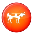 Switzerland cow icon flat style vector image