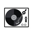 turntable vinyl record player icon vector image vector image