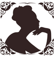 vintage lady silhouette vector image vector image