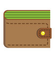 wallet flat icon business and finance purse sign vector image vector image