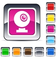 webcam square button vector image vector image