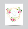 wedding invitation floral template save the date vector image