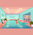 women in swimming pool relaxing aqua aerobics vector image