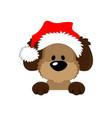 happy christmassymbol the dog 2018 vector image