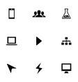 development 9 icons set vector image