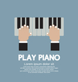 Hand Playing Piano vector image