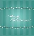 christmas lights garlands frame - festive lights vector image