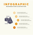 3dmodel 3d box triangle infographics presentation vector image