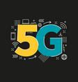 5g sign logo technology network vector image vector image