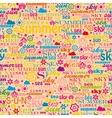 Abstract colorful image made from words which vector image