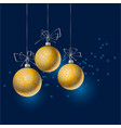 abstract gold christmas tree baubles header vector image