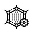 artificial graphene technology sign icon vector image vector image