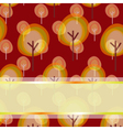 autumn greeting background vector image vector image