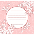 Background With Blossom vector image vector image