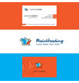 beautiful sydney logo and business card vertical vector image vector image