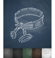 belt icon Hand drawn vector image vector image