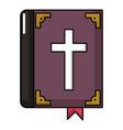 bible icon cartoon style vector image vector image