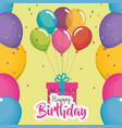 birthday card with gift vector image