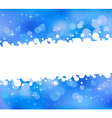 Blue abstract bokeh background vector image vector image