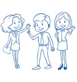 Businessminded people vector image vector image