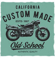 california custom made poster vector image vector image