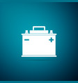car battery icon isolated on blue background vector image vector image