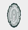 carpenter wood rings timber lumber logger logo vector image vector image