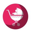 cart baby silhouette icon vector image vector image