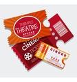 Cinema tickets design vector image vector image