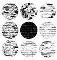 circle brickwall set vector image vector image