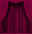 dark red curtain vector image vector image