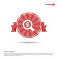 dollar money icon - red ribbon banner vector image
