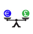 dollar pound scales icon vector image