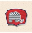 Elephant of vote inside frame design vector image vector image