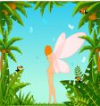 fairy in tropical background vector image vector image