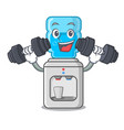fitness cartoon water cooler for office and home vector image