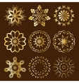 Floral Radial Gold Ornament vector image vector image