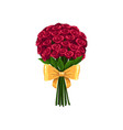 flower bouquet isolated roses in bunch vector image