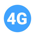 fourth mobile generation - 4g icon vector image