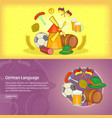 german banner template set cartoon vector image