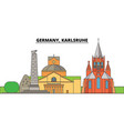 germany karlsruhe city skyline architecture vector image vector image