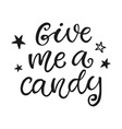 give me a candy halloween party poster vector image