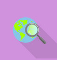 global find icon flat style vector image vector image