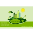 green eco town - abstract ecology town vector image vector image