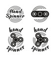 hand spinner emblems vector image
