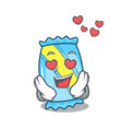 in love candy mascot cartoon style vector image