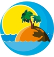 island with palm trees vector image vector image